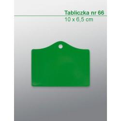 Tabliczka nr 66H (10 x 6,5...